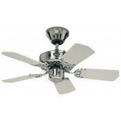 Ventilatore da soffitto, Classic Royal 75 CH, 75 cm, cromo lucido/  bianco/grigio, Casafan