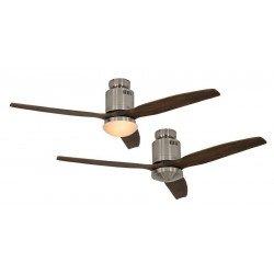 Ventilatore da soffitto,Areodynamix BN, 132cm, cromo spazzolato/noce, con o senza luce, Casafan.