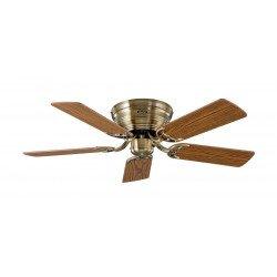 Ventilatore a soffitto, Classic Flat, 103 cm, ottone anticato, lame quercia / faggio CASAFAN