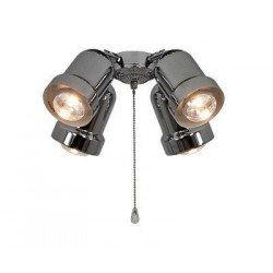 Kit di luce, 4 faretti,  E27, max 4x 60 watt, cromato, Casafan.
