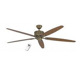 Ventilatore da soffitto, Eco Elements 180 MA, 180cm, ottone antico/ quercia antica/noce, moderno, DC, Casafan