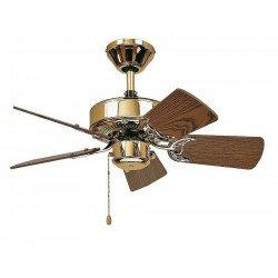 Ventilatore da soffitto, Classic Royal 75 MP, ottone lucido/quercia, Casafan.