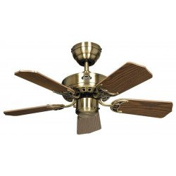 Ventilatore da soffitto, Classic Royal 75 MA, 75cm, ottone antico/quercia, Casafan