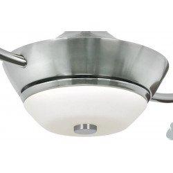 Ventilatore da soffitto, Efan Silver, 107 cm , pale argentate, con lampada, Pepeo.