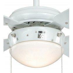 Ventilatore a soffitto, 105 centimetri, bianco, con luce, classico, Fan Boutique