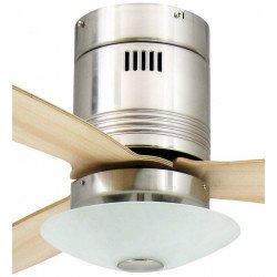 Ventilatore da soffitto, Aero, 132 cm, nickel/acero, con luce, AireRyder