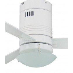 Ventilatore a soffitto, Photon, 107 centimetri, bianco/pino, con luce, Fan Boutique.