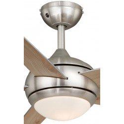 Ventilatore da soffitto, Fresco nichel, 112cm, nichel/pino/argento, con luce, moderno, AirRyder