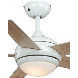 Ventilatore da soffitto, Fresco blanc, bianco/pino, con luce, AireRyder