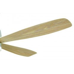 Ventilatore da soffitto, Acryl, 127 cm, bianco, design, telecomando, con luce, reversibile, Lba Home.