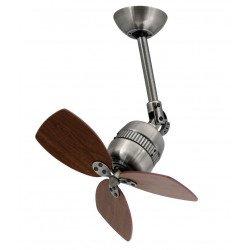 Ventilatore da soffitto, Todelo, 46 cm, alluminio zincato, vintage, orientabile, senza luce, Pépeo.