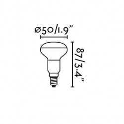 Pacchetto di 4 lampadine LED R50 E14 4W 2700K