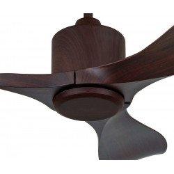 Ventilatore da soffitto, Eco Aviador, 103 cm, moderno, pale in noce scuro, senza luce, reversibile, Casafan.