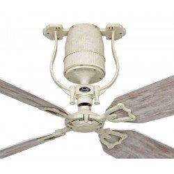 Ventilatore da soffitto Roadhouse SH-SH, vintage, DC, corpo bronzo dipinto a mano, pale falsa betulla, senza luce, CasaFan.