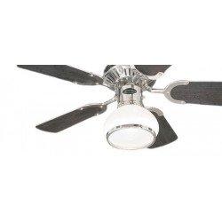 Ventilatore da soffitto, Princess Radiance, 76 cm, cromo/wengé/bianco, con luce.