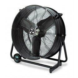 Ventilatore a tamburo industriale con rotelle, DF800 Eco, 80cm, 123 W max, alte prestazioni, Casafan.