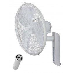 Ventilatore da parete, Greyhound WV 45 FB LG, 45cm, bianco, con telecomando, regolabile in orizzontale e verticale, Casafan.