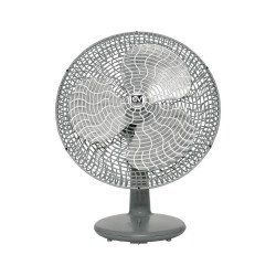 Ventilatore da tavolo, Gordon 40/16 , 40cm, grigio chiaro, classico, silenzioso, Vortice.