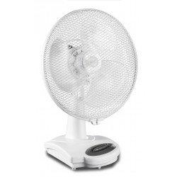 Ventilatore da tavolo, Greyhound TV 36-SL WE, 30cm, bianco, silenzioso e con meccanismo di oscillazione, Casafan.
