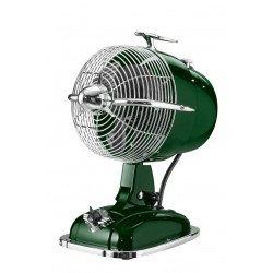 Ventilatore da tavolo, Retrojet GN, stile retró, verde lucido, con meccanismo di oscillazione, Casafan.