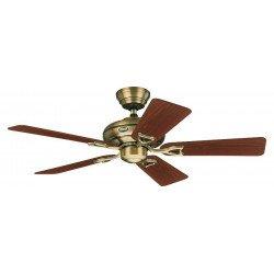 Ventilatore da soffitto, Seville II MA, 112cm, classico, ottone anticato, pale in noce o rovere medio, senza luce, Hunter.