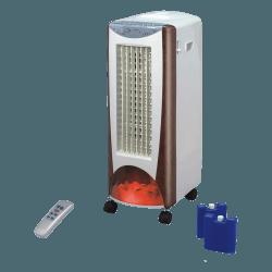 Raffrescatore evaporativo e riscaldatore, EV2000 , bianco/dettagli marroni e fiamme, 3 in 1, con telecomando, silenzioso, LbaHom