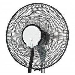 Ventilatore nebulizzatore, Fresh 1,ø 40 cm, per interni ed esterni, con telecomando, Lba Home.