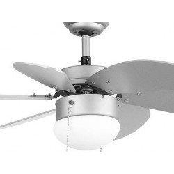 Ventilatore da soffitto, Palao, 81cm, grigio, con luce, Faro.