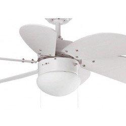 Ventilatore da soffitto, Palao, 81cm, bianco, con luce, Faro