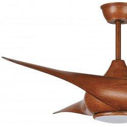 Ventilatore da soffitto, Wood Karla, 127 cm, legno, design, telecomando, con luce, reversibile, Lba Home.