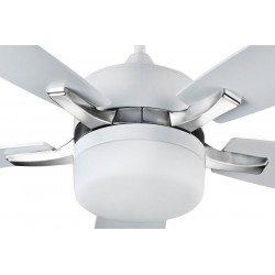 Ventilatore da soffitto, Millenium, 132cm, moderno, bianco, con luce, telecomando, Lba Home.