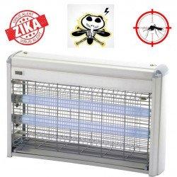Lampada insetticida con luce UV, Z215, fino a 80mq, per ambienti umidi, 100% alluminio, Orieme.