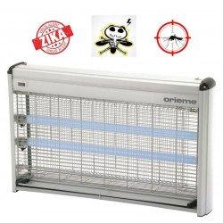 Lampada insetticida con luce UV, Z220, fino a 150mq, per ambienti umidi, 100% alluminio, Orieme.