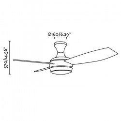 Ventilatore a soffitto, moderno, nichel opaco, 100 cm. lampada, telecomando IR, FARO MINI UFO 33455