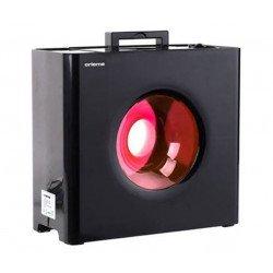 Umidificatore dell'aria ibrido, vapore caldo e freddo, nero e rosso, igrostato, ultraefficiente, Orieme.