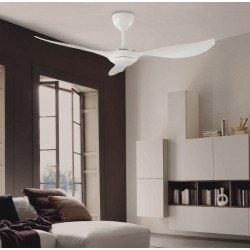 Ventilatore da soffitto, Access, 132 cm, bianco, moderno, con luce, silenzioso, LbaHome.