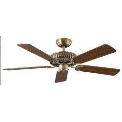 Ventilatore da soffitto,  Eco Imperial, 132cm, DC, ottone/ noce/rovere, classico, Casafan.