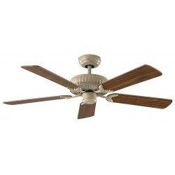 Ventilatore da soffitto, Eco Imperial AW, 132cm,DC, bianco antico/rovere/noce, classico, Casafan.