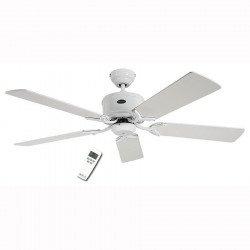 Ventilatore da soffitto, Eco Elements 132 WE, 132cm, DC, bianco/grigio, Casafan