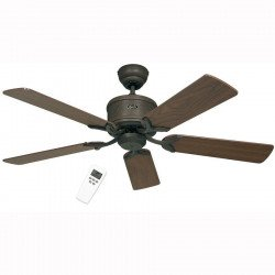 Ventilatore da soffitto, Eco Elements 132 BA, 132cm, DC, moderno, marrone antico/noce/faggio, Casafan