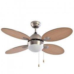 Ventilatore da soffitto, Libe, 106cm, moderno, quercia/acero, con luce, reversibile, Lba Home.