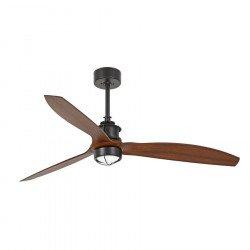 Ventilatore da soffitto, Just Fan, 128 cm, DC, design, nero/ legno, con luce, Faro.