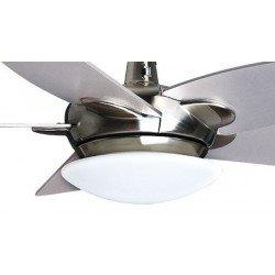 Ventilatore da soffitto,Farou Dc, 132 cm, Cromo/argento/legno, con luce, DC, Purline by KlassFan