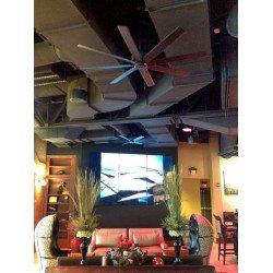 Ventilatore da soffitto, Levon OB, 160cm, bronzo sfregato ad olio e pale in noce, Casafan.