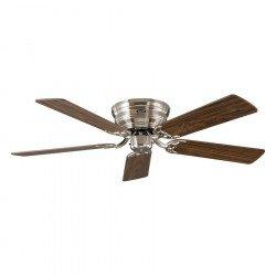 Ventilatore da soffitto, Classic Flat 132-III BN, 132cm, cromo spazzolato/faggio/noce, Casafan.