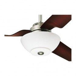 Kit luce, Flight, dettagli bianchi e cromo spazzolato con vetro opalino, anche per lampadine a risparmio energetico, Hunter.