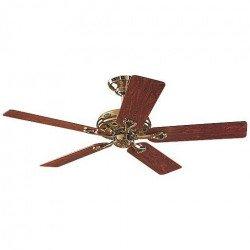 Ventilatore da soffitto, Savoy MP, 132cm, classico, pale legno palissandro/quercia, corpo ottone lucido, Hunter.