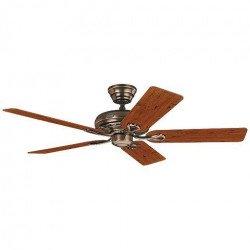 Ventilatore da soffitto, Savoy AB, 132cm, classico, pale legno ciliegio/mogano, corpo bronzo ambrato, Hunter.