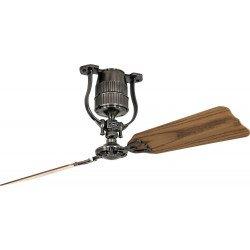 Ventilatore da soffitto Roadhouse ZN, 132cm, stagno/rovere/noce, DC, coloniale, senza luce, CasaFan.