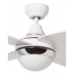 Ventilatore da soffitto, Pelican, 122 cm , moderno, bianco,reversibile, Lba Home